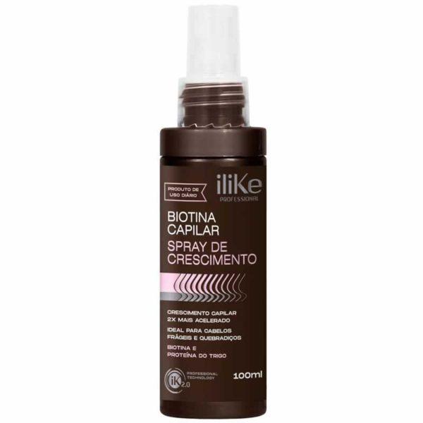 Spray de Crescimento Biotina Capilar iLike 100ml