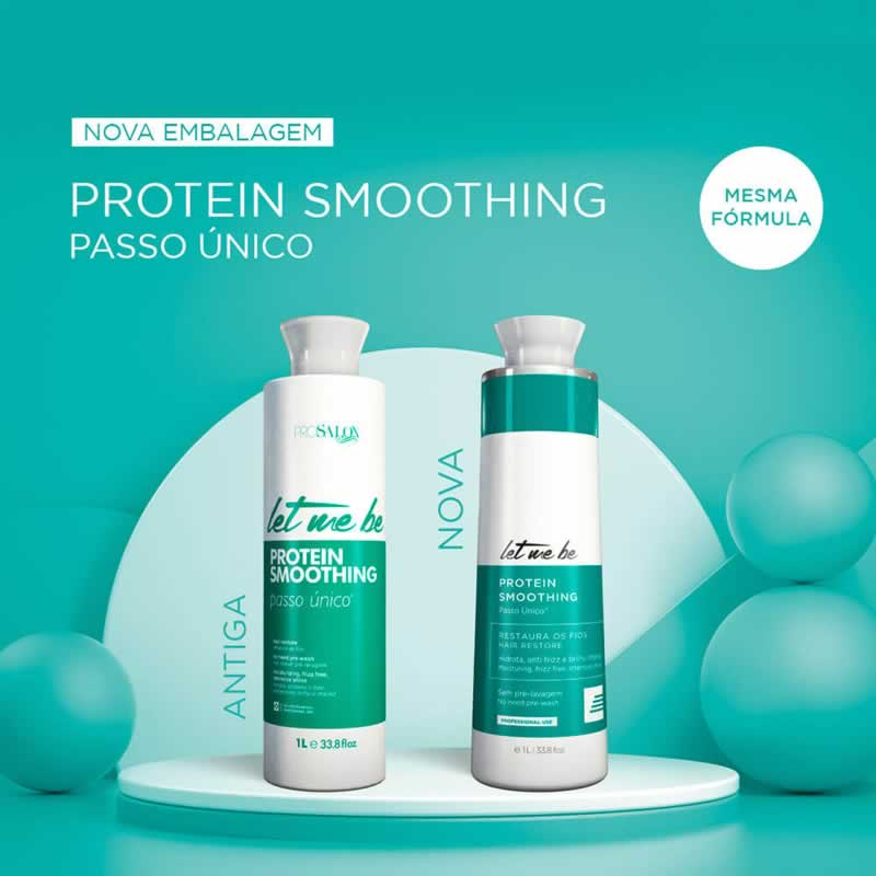 Escova Progressiva Protein Smoothing 1L Nova Embalagem