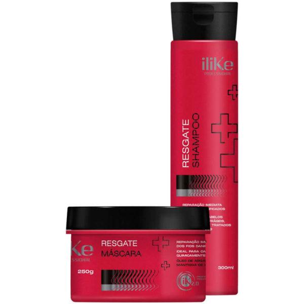 Kit Resgate iLike Shampoo + Máscara 2 Produtos